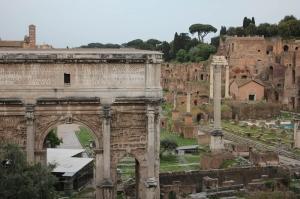 Forum Romanum Roma Tarihi Kalıntıları İtalya-27, Dünyaca Ünlü Şehirler Kanvas Tablo