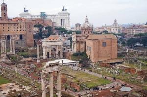 Forum Romanum Roma Tarihi Kalıntıları İtalya-28, Dünyaca Ünlü Şehirler Kanvas Tablo