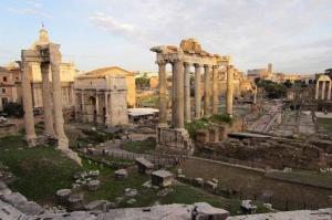 Forum Romanum Roma Tarihi Kalıntıları İtalya-29, Dünyaca Ünlü Şehirler Kanvas Tablo