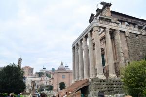 Forum Romanum Roma Tarihi Kalıntıları İtalya-31, Dünyaca Ünlü Şehirler Kanvas Tablo