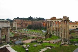 Forum Romanum Roma Tarihi Kalıntıları İtalya-32, Dünyaca Ünlü Şehirler Kanvas Tablo