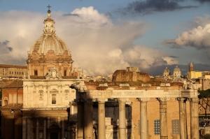 Forum Romanum Roma Tarihi Kalıntıları İtalya-33, Dünyaca Ünlü Şehirler Kanvas Tablo