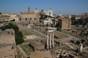 Forum Romanum Roma Tarihi Kalıntıları İtalya-36, Dünyaca Ünlü Şehirler Kanvas Tablo