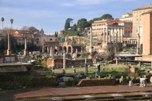 Forum Romanum Roma Tarihi Kalıntıları İtalya-37, Dünyaca Ünlü Şehirler Kanvas Tablo
