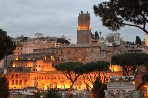 Forum Romanum Roma Tarihi Kalıntıları İtalya-38, Dünyaca Ünlü Şehirler Kanvas Tablo