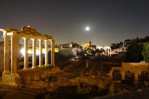 Forum Romanum Roma Tarihi Kalıntıları İtalya-39, Dünyaca Ünlü Şehirler Kanvas Tablo