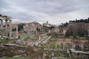 Forum Romanum Roma Tarihi Kalıntıları İtalya-4, Dünyaca Ünlü Şehirler Kanvas Tablo