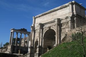 Forum Romanum Roma Tarihi Kalıntıları İtalya-40, Dünyaca Ünlü Şehirler Kanvas Tablo