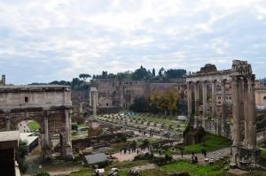 Forum Romanum Roma Tarihi Kalıntıları İtalya-44, Dünyaca Ünlü Şehirler Kanvas Tablo