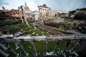 Forum Romanum Roma Tarihi Kalıntıları İtalya-45, Dünyaca Ünlü Şehirler Kanvas Tablo