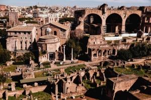 Forum Romanum Roma Tarihi Kalıntıları İtalya-46, Dünyaca Ünlü Şehirler Kanvas Tablo
