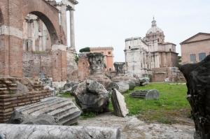 Forum Romanum Roma Tarihi Kalıntıları İtalya-47, Dünyaca Ünlü Şehirler Kanvas Tablo