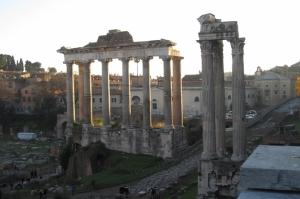 Forum Romanum Roma Tarihi Kalıntıları İtalya-49, Dünyaca Ünlü Şehirler Kanvas Tablo