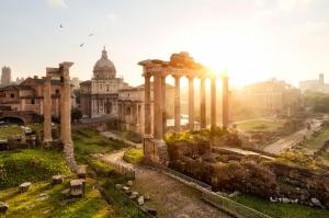 Forum Romanum Roma Tarihi Kalıntıları İtalya-5, Dünyaca Ünlü Şehirler Kanvas Tablo