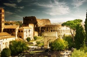 Forum Romanum Roma Tarihi Kalıntıları İtalya-50, Dünyaca Ünlü Şehirler Kanvas Tablo
