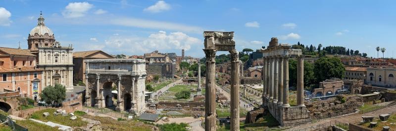 Forum Romanum Roma Tarihi Kalıntıları İtalya-53 Dünyaca Ünlü Şehirler Kanvas Tablo