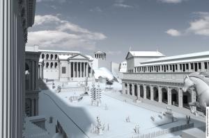 Forum Romanum Roma Tarihi Kalıntıları İtalya-54, Dünyaca Ünlü Şehirler Kanvas Tablo