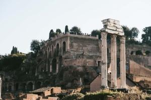 Forum Romanum Roma Tarihi Kalıntıları İtalya-55, Dünyaca Ünlü Şehirler Kanvas Tablo