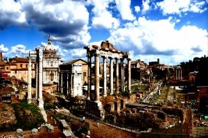 Forum Romanum Roma Tarihi Kalıntıları İtalya-58, Dünyaca Ünlü Şehirler Kanvas Tablo