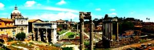 Forum Romanum Roma Tarihi Kalıntıları İtalya-58 Dünyaca Ünlü Şehirler Kanvas Tablo