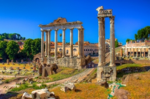 Forum Romanum Roma Tarihi Kalıntıları İtalya-59, Dünyaca Ünlü Şehirler Kanvas Tablo