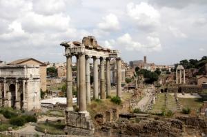 Forum Romanum Roma Tarihi Kalıntıları İtalya-61, Dünyaca Ünlü Şehirler Kanvas Tablo