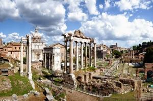 Forum Romanum Roma Tarihi Kalıntıları İtalya-62, Dünyaca Ünlü Şehirler Kanvas Tablo