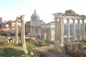 Forum Romanum Roma Tarihi Kalıntıları İtalya-7, Dünyaca Ünlü Şehirler Kanvas Tablo