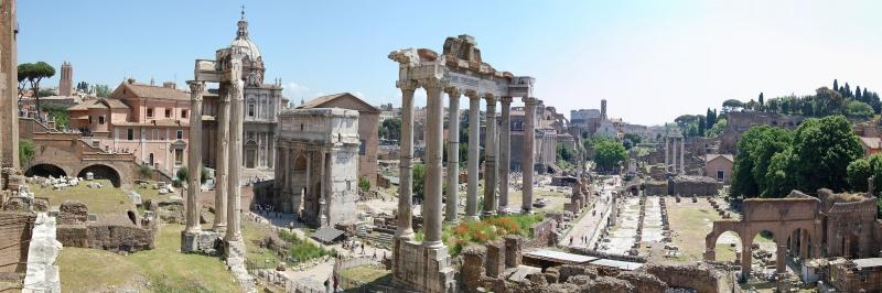 Forum Romanum Roma Tarihi Kalıntıları İtalya-8 Dünyaca Ünlü Şehirler Kanvas Tablo