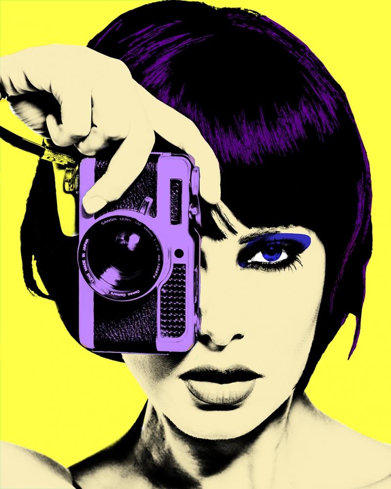 Fotoğrafçı Kız Motivasyon Popüler Kültür Kanvas Tablo