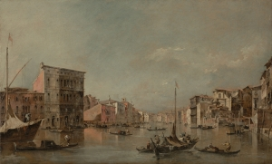 Francesco Guardi İtalian The Grand Canal Yağlı Boya Sanat Kanvas Tablo