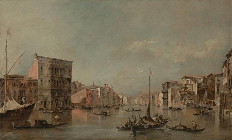 Francesco Guardi İtalian The Grand Canal Yağlı Boya Sanat Kanvas Tablo
