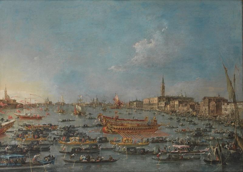 Francesco Guardi Kanala Giris San Marco Venedik İtalya Deniz Şehir Manzaraları Sanat Kanvas Tablo