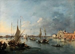 Francesco Guardi Liman Venedik İtalya Deniz Şehir Manzaraları Yağlı Boya Klasik Sanat Kanvas Tablo