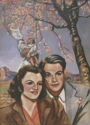 Francis Picabia bir Çiftin Portresi Soyut Yağlı Boya Klasik Sanat Canvas Tablo