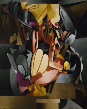 Francis Picabia Soyut Yağlı Boya Klasik Sanat Canvas Tablo