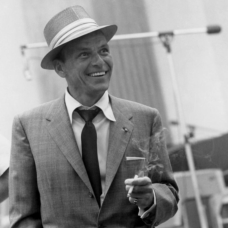 Frank Sinatra Ünlü Yüzler Kanvas Tablo