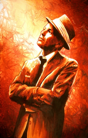 Frank Sinatra Yağlı Boya Sanat Kanvas Tablo