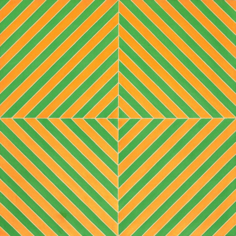Frank Stella Hipnoz Soyut Yağlı Boya Klasik Sanat Kanvas Tablo
