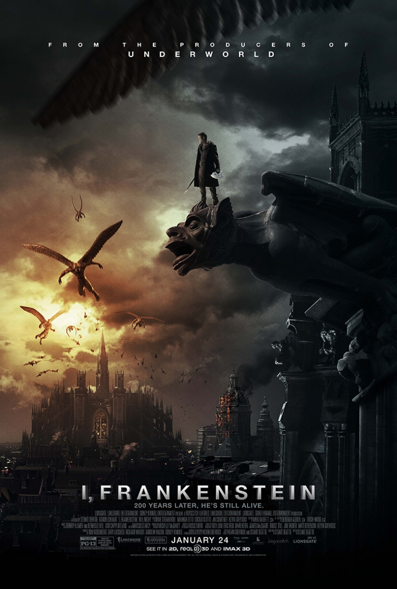 Frankenstein Afiş Sinema Kanvas Tablo