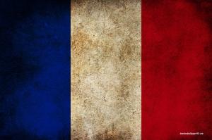 Fransız Bayrağı, Eskitilmiş Retro Fransa Bayrağı Kanvas Tablo