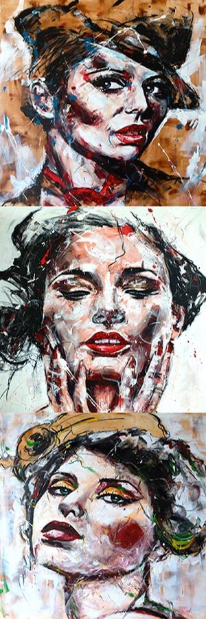 Fransız Kadınlar-33 Klasik Sanat Kanvas Tablo