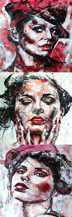 Fransız Kadınlar-34 Klasik Sanat Kanvas Tablo