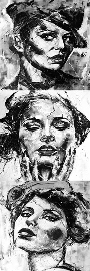 Fransız Kadınlar-35 Klasik Sanat Kanvas Tablo