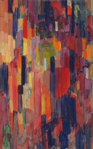 Frantisek Kupka Dikey Darbeler Soyut Yağlı Boya Klasik Sanat Canvas Tablo