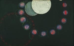 Frantisek Kupka İlk Basamak Soyut Yağlı Boya Klasik Sanat Canvas Tablo