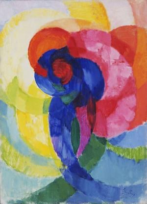 Frantisek Kupka Kırmızı Ve Mavi Disk Soyut Yağlı Boya Klasik Sanat Canvas Tablo