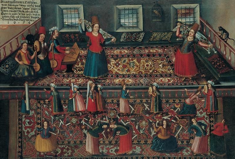 Franz Hermann Türk Hamamı Yağlı Boya Sanat Kanvas Tablo