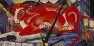 Franz Marc Dünya İneği Soyut  Yağlı Boya Klasik Sanat Canvas Tablo