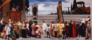 Frederic Leighton Cinabue's Celebrated Madonna Yağlı Boya Sanat Kanvas Tablo